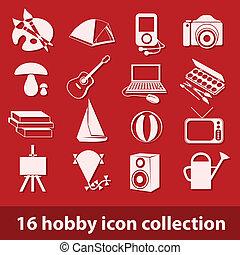 16 Hobby-Icon-Sammlung