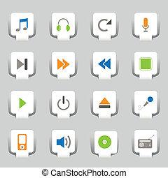 16 Web-Icons-Musik