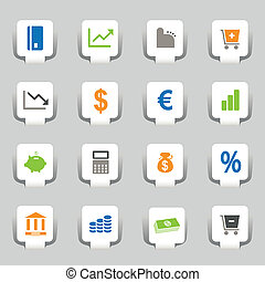 16 Web-Ikons-Geschäfte
