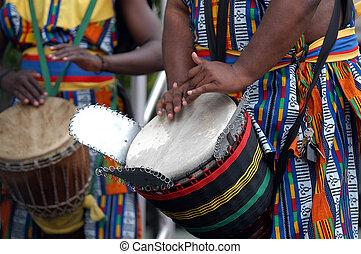 2, schlagzeugspieler, afrikanisch