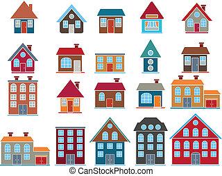 20 Gebäude. Vector
