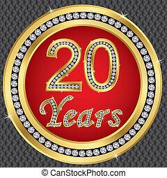 20 Jahre Jahrestag, glückliche Geburt
