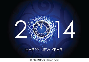 2014 glückliche neue Jahruhr.