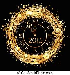 2015 - Vektor glänzende neue Jahruhr.
