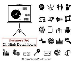 24 Geschäfts-Ikonen.