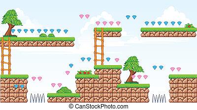 2D-Fliesenplattform-Spiel.