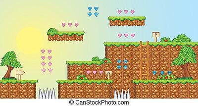 2D Tileset Plattform Spiel 3.