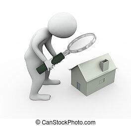 3 Mann sucht das Haus ab