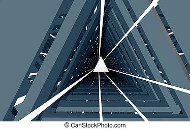 3d abstrakter Tunnel .3d Illustration