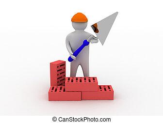 3D Bauarbeiter