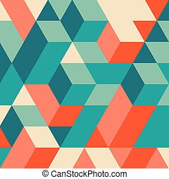 3d Blocks Struktur Hintergrund. Geometrisches Muster.