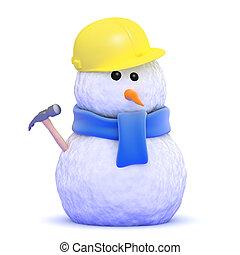 3d Builder Schneemann.