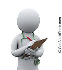 3D Doktor schreibt Krankengeschichte