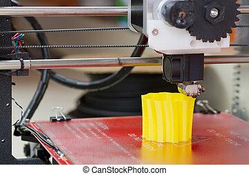 3D-Drucker in Aktion.