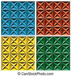 3d geometrisches nahtloses Muster