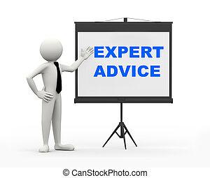 3D-Geschäftsmann - Experte Rat
