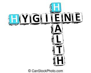 3D Hygiene-Gesundheitskreuzwort.