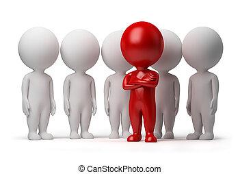 3d kleine Leute - Anführer eines Teams
