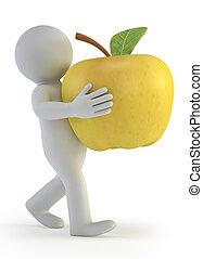 3d kleine Leute - Apfel.