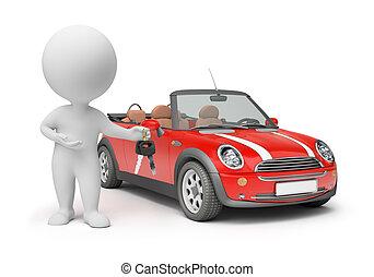 3d kleine Leute - Autoschlüssel