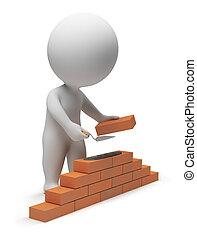 3d kleine Leute - Bauarbeiter