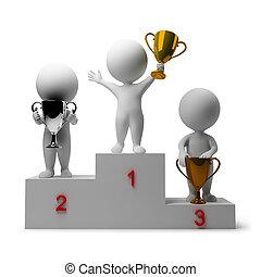 3d kleine Leute - Belohnung von Gewinnern