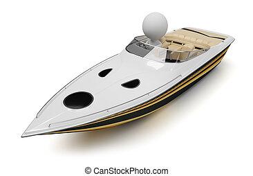 3d kleine Leute - Boot