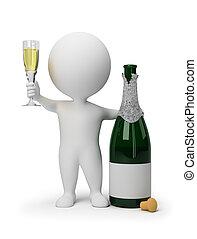 3d kleine Leute - Champagner