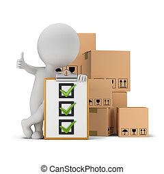 3d kleine Leute - Checkliste und Boxen