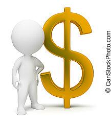 3d kleine Leute - ein Dollarzeichen