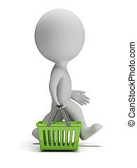 3d kleine Leute - Einkaufskorb