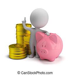3d kleine Leute - Ersparnisse