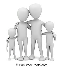3d kleine Leute - Familie.