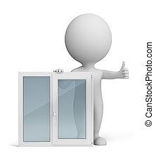 3d kleine Leute - Fenster