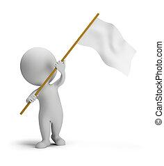 3d kleine Leute - Flagge