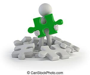 3d kleine Leute - gefunden Puzzle.