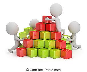 3d kleine Leute - Geschäftspyramide