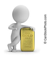 3d kleine Leute - Goldbarren