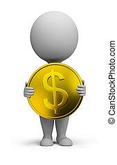 3d kleine Leute - Goldmünze