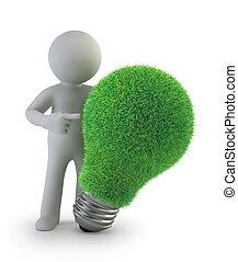 3d kleine Leute - grüne Ideen.