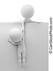 3d kleine Leute - helfen Sie dem Freund