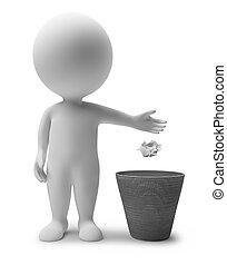 3d kleine Leute - Müllkorb