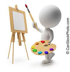 3d kleine Leute - Maler