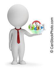 3d kleine Leute - Manager und sein Team