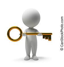 3d kleine Leute - nimm einen Schlüssel