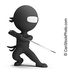 3d kleine Leute - Ninja