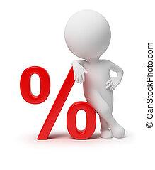 3d kleine Leute - Prozent