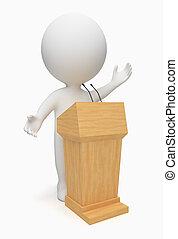 3d kleine Leute - Redner