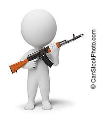 3d kleine Leute - Soldat mit Ak74