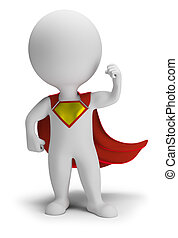 3d kleine Leute - Superheld